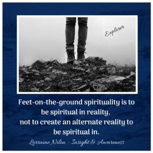 feet on the ground spirituality